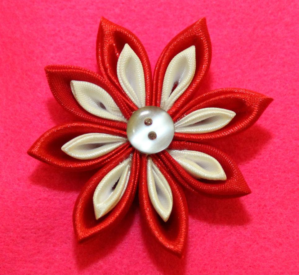 aksesoris anak dan wanita pin bros bando bandana bunga kanzashi ... ca6699a886