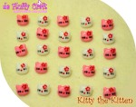 KOSONG - Kancing hias hello kitty per-biji 200,- per-lusin 2.400,- per-gross 25.000,-
