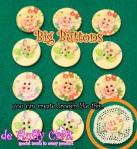 KOSONG - Kancing hias bergambar bunga dan kupu-kupu per-biji 2.100,- per-lusin 25.000,-