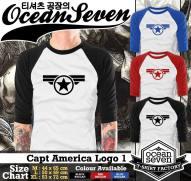 Capt America Logo 1 - Raglan